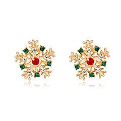 abordables Bijoux pour Femme-Femme 3D Boucles d'oreille goujon - Flocon de Neige Classique, Mode Arc-en-ciel Pour Noël Nouvelle Année