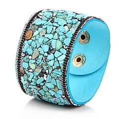 preiswerte Armbänder-Damen Perlenbesetzt Lederarmbänder - Künstlerisch, Einzigartiges Design Armbänder Blau / Dunkelrot / Dark Gray Für Party Verabredung