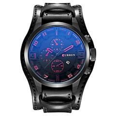 お買い得  メンズ腕時計-CURREN 男性用 スポーツウォッチ 日本産 日本産クォーツ ブラック / ブラウン 30 m 耐水 カレンダー カジュアルウォッチ ハンズ カジュアル ファッション - ブラック Brown