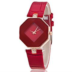 preiswerte Damenuhren-Damen Armbanduhr Quartz Armbanduhren für den Alltag Leder Band Analog Freizeit Modisch Schwarz / Weiß / Blau - Purpur Rot Blau