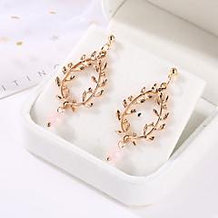 preiswerte Ohrringe-Damen Tropfen-Ohrringe - Künstliche Perle Blattform Einzigartiges Design, Modisch, Elegant Gold / Silber Für Party Party / Abend