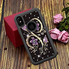 Недорогие Кейсы для iPhone 6-Кейс для Назначение Apple iPhone XS / iPhone XS Max Полупрозрачный / С узором Кейс на заднюю панель Цветы Твердый ТПУ / ПК для iPhone XS / iPhone XR / iPhone XS Max
