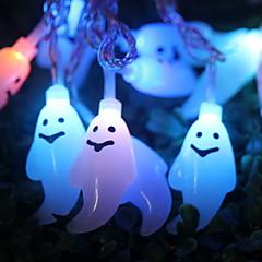 preiswerte LED Lichtstreifen-1.2 Leuchtgirlanden 10 LEDs Mehrfarbig Dekorativ / bezaubernd Batterien angetrieben 1 set