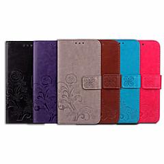 Недорогие Чехлы и кейсы для Sony-Кейс для Назначение Sony Xperia XZ2 Premium Бумажник для карт / Флип Чехол Однотонный / Мандала Мягкий Кожа PU для Sony Xperia XZ2 Premium