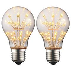 preiswerte LED-Birnen-2w e27 edison led glühbirne a19 retro filament licht ac 220 v - 240 v für bar weihnachten party nacht atmosphäre dekoration (2 stücke)
