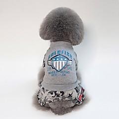 お買い得  犬用ウェア&アクセサリー-犬用 コート 犬用ウェア ブリティッシュ / スローガン ブラック / グレー アクリル繊維 コスチューム ペット用 男女兼用 カジュアル/普段着 / ウォームアップ
