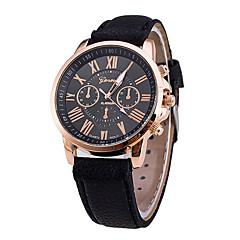 お買い得  レディース腕時計-女性用 リストウォッチ クォーツ 30 m クリエイティブ PU バンド ハンズ ファッション ブラック / 白 / ブルー - Brown グリーン ブルー