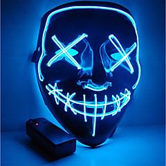 abordables Cascos para Moto-Máscara de halloween Máscara de motocicleta Máscara de fiesta iluminada led año de elecciones claro Gran máscara divertida Festival cosplay suministros de disfraces brillan en la oscuridad