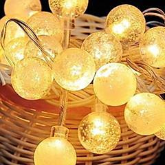 お買い得  LED ストリングライト-2.5m ストリングライト 20 LED 温白色 / オレンジ 装飾用 220-240 V 1セット