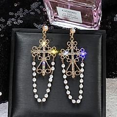 お買い得  イヤリング-女性用 ドロップイヤリング  -  真珠, ゴールドメッキ 十字架 欧風, 韓国語 ゴールド 用途 ストリート