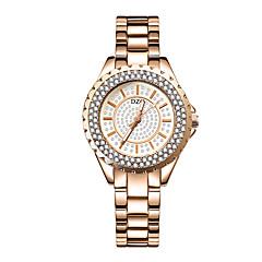 preiswerte Damenuhren-Damen Armbanduhr Quartz 30 m Kreativ Neues Design Legierung Band Analog Modisch Silber / Gold / Rotgold - Gold Silber Rotgold