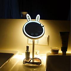 preiswerte Ausgefallene LED-Beleuchtung-brelong bunny beauty make-up spiegel okular tischlampe 1 stück