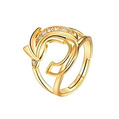 preiswerte Ringe-Damen Klar Kubikzirkonia Ring - Vogel Modisch Verstellbar Gold Für Geschenk Alltag