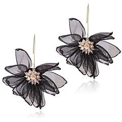 preiswerte Ohrringe-Damen Geflochten Tropfen-Ohrringe - Diamantimitate Blume Stilvoll, Klassisch, Süß Weiß / Schwarz / Violett Für Alltag Festival