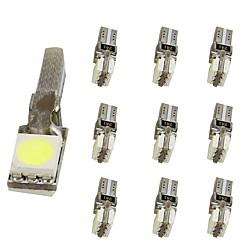 abordables Accesorios para Motos y Cuatriciclos-10pcs T5 Motocicleta / Coche Bombillas 1 W SMD 5050 30 lm 2 LED Luces interiores Para Universal Universal Universal
