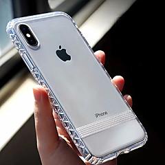 Недорогие Кейсы для iPhone 7 Plus-Кейс для Назначение Apple iPhone XR / iPhone XS Max Прозрачный Кейс на заднюю панель Однотонный Мягкий ТПУ для iPhone XS / iPhone XR / iPhone XS Max