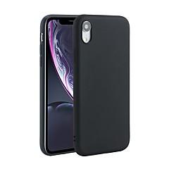Недорогие Кейсы для iPhone X-Кейс для Назначение Apple iPhone X / iPhone XS Max Защита от удара / Матовое Кейс на заднюю панель Однотонный Мягкий ТПУ для iPhone XR / iPhone XS Max / iPhone X