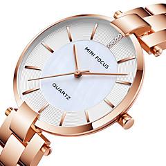 preiswerte Damenuhren-MINI FOCUS Damen Armbanduhr Japanisch Quartz 30 m Armbanduhren für den Alltag Cool Edelstahl Band Analog Modisch Elegant Schwarz / Blau / Gold - Schwarz Blau Rotgold