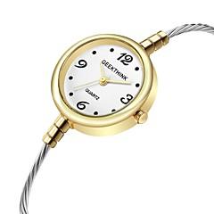preiswerte Damenuhren-Damen Armband-Uhr Quartz Armbanduhren für den Alltag Cool Legierung Band Analog Modisch Grün / Gold - Silber Gold Gold / Weiß