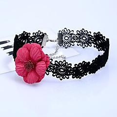 preiswerte Halsketten-Damen Halsketten - Spitze Blume Stilvoll, Einfach Purpur, Violett, Rot 32+7 cm Modische Halsketten Schmuck 1pc Für Alltag