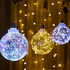 preiswerte LED Lichtstreifen-1m Leuchtgirlanden 3 LEDs Mehrfarbig Dekorativ AA-Batterien angetrieben 1 set