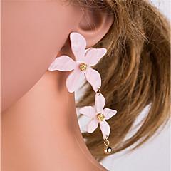 preiswerte Ohrringe-Damen Lang Tropfen-Ohrringe - Blume Süß, Elegant Weiß / Purpur / Leicht Rosa Für Alltag