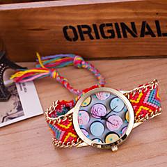 preiswerte Damenuhren-Damen Armbanduhr Quartz Wickeln Weiß / Blau / Orange Kreativ Armbanduhren für den Alltag Analog damas Retro Böhmische - Grün Blau Dunkelrot