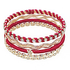 preiswerte Armbänder-Damen Mehrschichtig Armreife - Glücklich Europäisch, Ethnisch Armbänder Gold Für Alltag Festtage