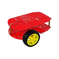 abordables Accesorios para Arduino-Nuevo chasis de coche de dos ruedas poroso rojo arduino.