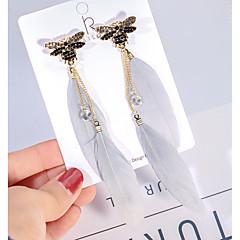 preiswerte Ohrringe-Damen Kubikzirkonia Gliederkette Tropfen-Ohrringe - vergoldet Libelle Koreanisch Weiß Für Strasse