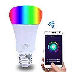 お買い得  LED 電球-1個 6 W 480 lm E26 / E27 LEDボール型電球 ST64 23 LEDビーズ SMD 5730 Smart / APPコントロール / 計時 マルチカラー 85-265 V