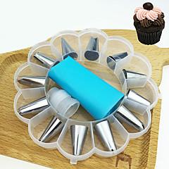 お買い得  ベイキング用品&ガジェット-ベークツール ステンレス鋼 ケーキ / 調理器具のための デザートデコレータ / デザートツール 14PCS
