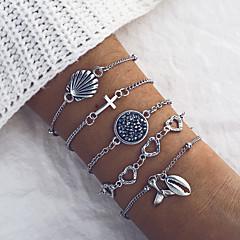 abordables Bijoux pour Femme-Femme Classique Chaînes & Bracelets Bracelet - Artistique, Original, Mode Bracelet Argent Pour Quotidien Plein Air / 5pcs