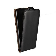 Недорогие Чехлы и кейсы для LG-Кейс для Назначение LG Q6 / L90 со стендом / Флип Чехол Однотонный Твердый Настоящая кожа для LG X Screen / LG Spirit / LG C70 H422 / LG Q6