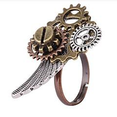 preiswerte Ringe-Damen Kaffee Vintage Stil Ring - Ausrüstung Steampunk Verstellbar Gold Für Alltag Festtage