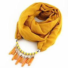 preiswerte Halsketten-Damen Geflochten Schal Halskette - Europäisch, Romantisch, Ethnisch Niedlich Rot, Blau, Leicht Grün 180 cm Modische Halsketten Schmuck 1pc Für Party, Ausgehen