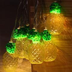 preiswerte LED Lichtstreifen-2,5 m Leuchtgirlanden 10 LEDs Warmes Weiß Dekorativ AA-Batterien angetrieben 1 set