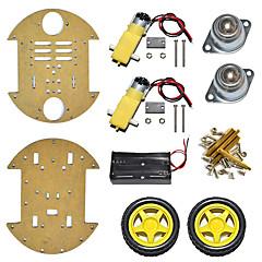 abordables Accesorios para Arduino-Nuevo producto / disco tipo chasis de coche inteligente / dos ruedas