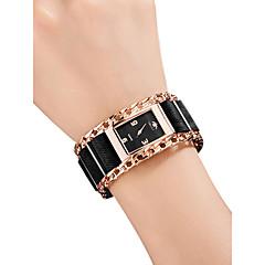 preiswerte Damenuhren-Damen Armbanduhr Quartz 30 m Wasserdicht Kreativ Edelstahl Stoff Band Analog Retro Modisch Schwarz / Silber / Rot - Silber Rot Rotgold