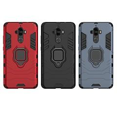 Недорогие Чехлы и кейсы для Huawei Mate-Кейс для Назначение Huawei Mate 9 Защита от удара / Кольца-держатели Кейс на заднюю панель Однотонный / броня Твердый ПК для Mate 9