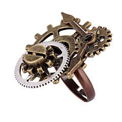 お買い得  指輪-女性用 レトロ オープンリング 調節可能なリング  -  合金 ギア レディース, ヴィンテージ, ロリータパンク, Steampunk ジュエリー 青銅色 用途 マスカレード プロフェッショナル 調整可
