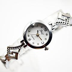 preiswerte Damenuhren-Damen Kleideruhr Armbanduhr Quartz Silber Armbanduhren für den Alltag Cool Analog damas Armreif Minimalistisch - Silber