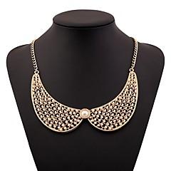 abordables Collares-Mujer Collar - Perla Artificial Elegante, Simple Dorado 32+7 cm Gargantillas Joyas 1pc Para Diario
