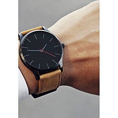 cheap -Men's Dress Watch Wrist Watch Quartz Black / Brown 30 m New Design Casual Watch Cool Analog Casual Fashion - Coffee Black / White White / Brown One Year Battery Life / Stainless Steel / SSUO 377