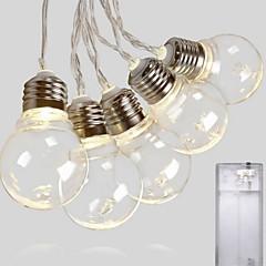 preiswerte LED Lichtstreifen-2,5 m Leuchtgirlanden 20 LEDs Warmes Weiß Dekorativ AA-Batterien angetrieben 1 set
