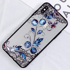 Недорогие Кейсы для iPhone 7 Plus-Кейс для Назначение Apple iPhone XS / iPhone XS Max Полупрозрачный / С узором Кейс на заднюю панель Цветы Твердый ПК для iPhone XS / iPhone XR / iPhone XS Max