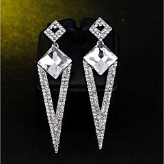 preiswerte Ohrringe-Damen Klassisch Tropfen-Ohrringe - Strass, Diamantimitate Stilvoll, Klassisch Silber Für Verlobung Zeremonie