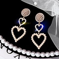 abordables Bijoux pour Femme-Femme Lien / Chaîne Boucles d'oreille goutte - Perle, Plaqué argent Coréen Or Pour Quotidien