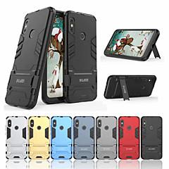 Недорогие Чехлы и кейсы для Xiaomi-Кейс для Назначение Xiaomi Xiaomi Redmi 6 Pro Защита от удара / со стендом Кейс на заднюю панель Однотонный Твердый ПК для Xiaomi Redmi 6 Pro