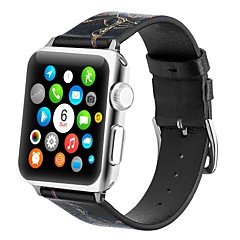 abordables Correas para Reloj-piel genuina Ver Banda Correa para Apple Watch Series 4/3/2/1 Negro / Amarillo 23cm / 9 pulgadas 2.1cm / 0.83 Pulgadas